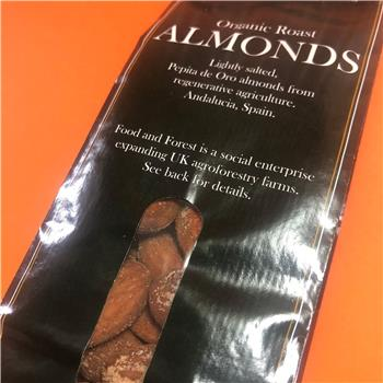 Organic roasted salted almonds (100g)